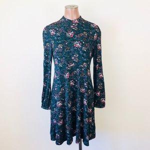 Soft & Sexy Paisley Mock Neck Swing Dress